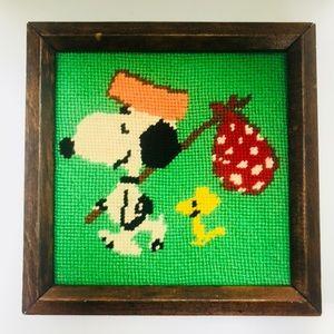 Vintage snoopy cross-stitch